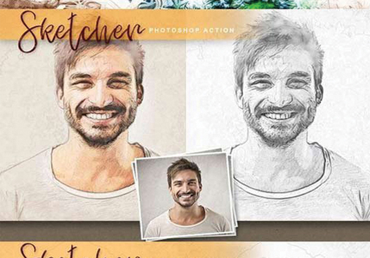 I will design sketch photoshop from your photo