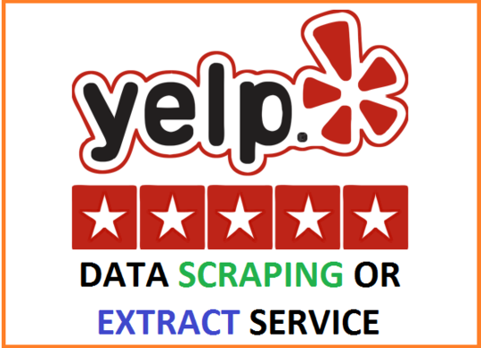 I will scrape or extract 500 Yelp business data into excel or csv