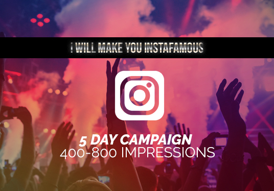 I will make you instafamous with marketing and promotion
