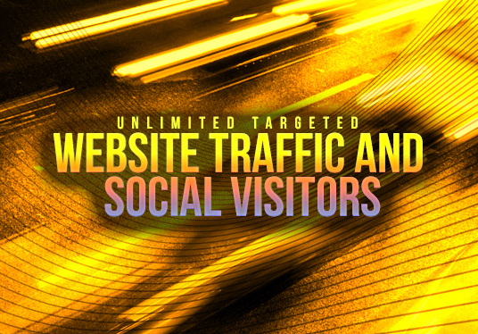 I will drive Unlimited Targeted Website Traffic and Social Visitors