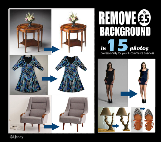 I will remove background of 15 product photos