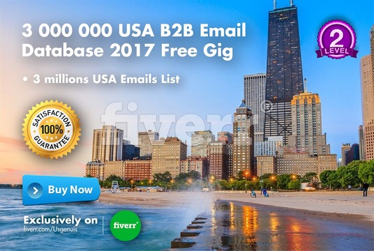 Give you 3 000 000 USA B2B Email Database 2017 Free Gig for £20