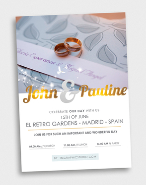 design a program for your wedding,  anniversary or a special event