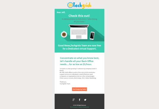 Design Responsive HTML email CampaignMarketing Newsletter Template ...