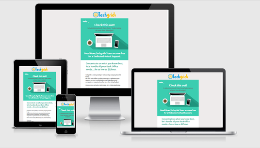 Design Responsive HTML email Campaign, Marketing Newsletter Template