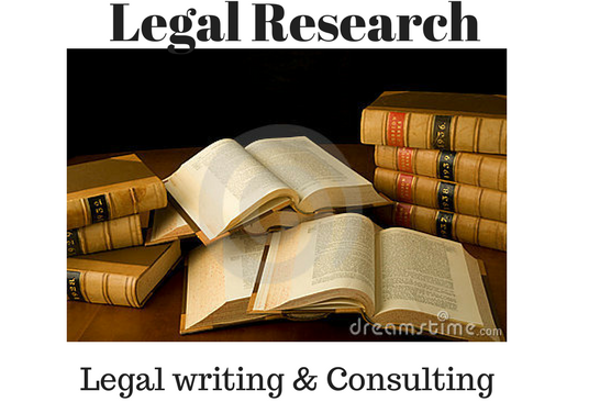 I will Conduct legal research and Writing, legal consulting amp;  support for pro se litigants