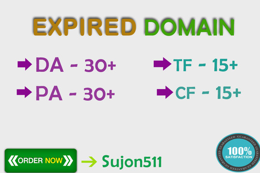 I will Find High DA  PA TF CF Expired Domain for PBN