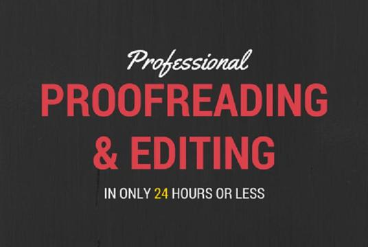 I will professionally proofread and edit up to 10000 words