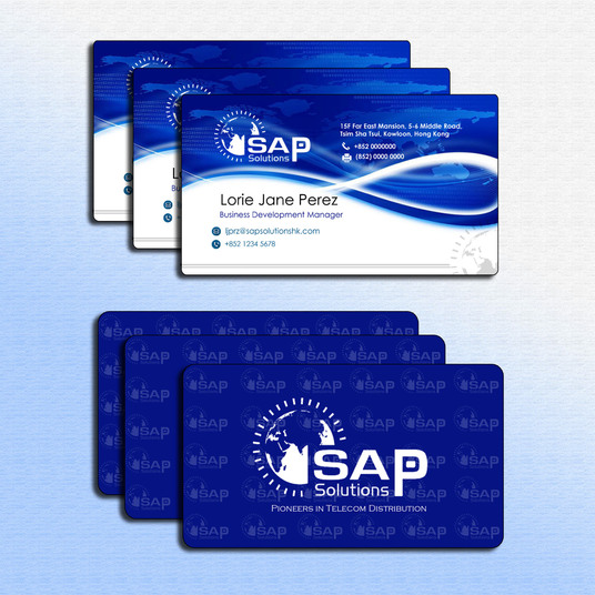 I will design 2 sided clean business card