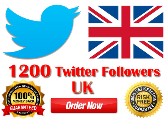 I will Provide 250 Real (UK)  targeted twitter followers