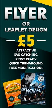 design Flyer, Poster, or Leaflet