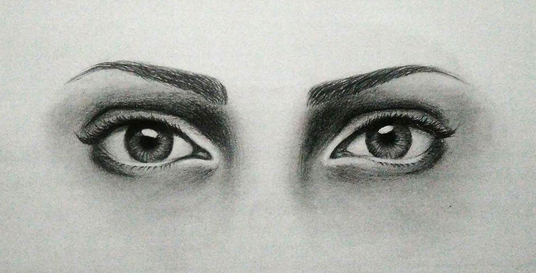 I will hand draw your eyes from your photo with a pencil