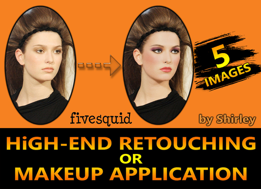 I will do High-End Retouching of 5 images on Photoshop within 24 hr