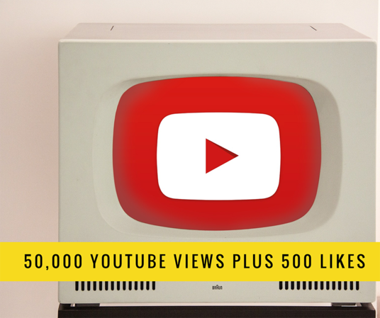 I will give you 50,000 Genuine High Quality Youtube Views  + 500 Likes