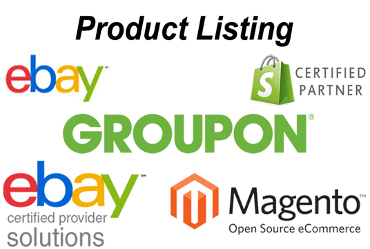I will add 25 products to your eBay or Amazon or shopify or magento or Groupon  store