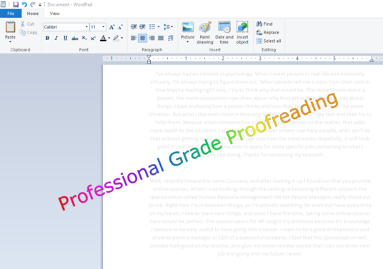 I will proofread writing of up to 3000 words