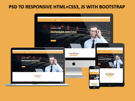 I will Convert PSD to HTML Responsive Website with bootstrap