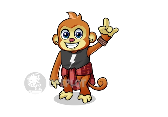 draw any cartoon or character mascot full body color
