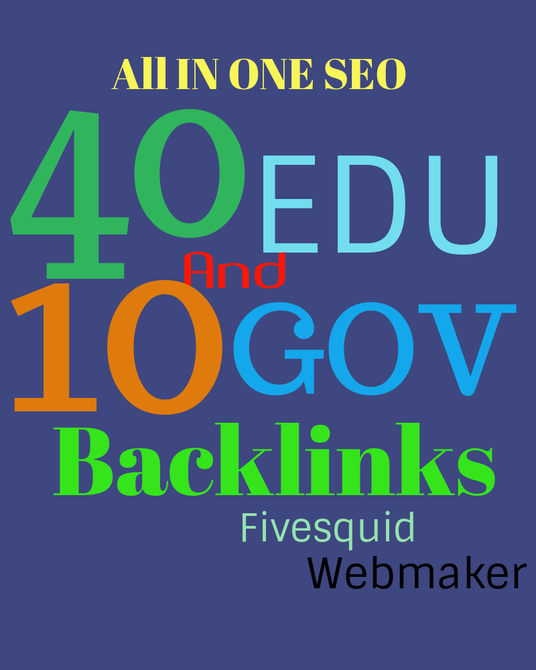 I will provide all in one EDU and GOV backlinks solution