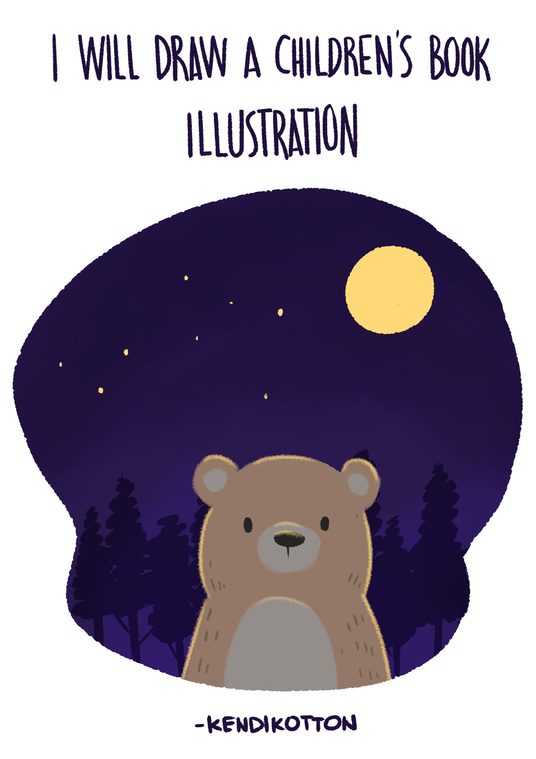 I will Draw Cute Illustration For Your Children Story