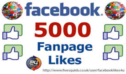 I will add 5000+ Facebook Fan Page Likes within 5 days