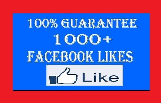 I will 1000 facebook fanpage likes