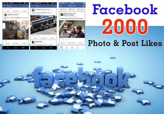 provide 2000 Photo Post Facebook Likes for you
