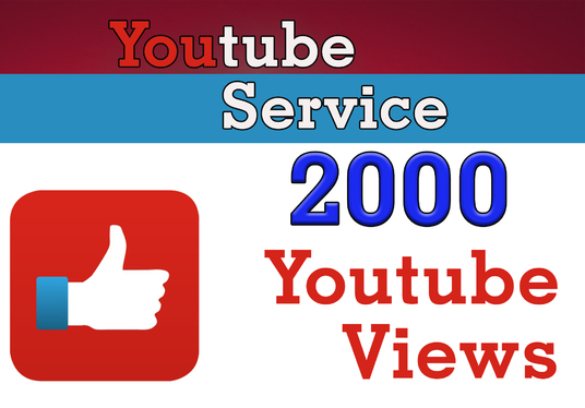 I will provide 2000 YOUTUBE Video Views