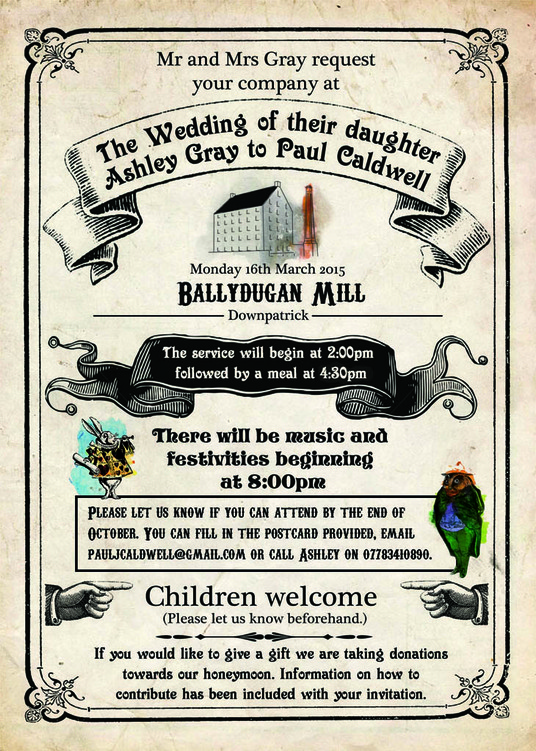 I will create for you a victorian style party / wedding invitation to suit any event