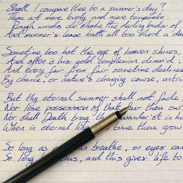 Cccccc Handwrite 300 Words In Stylish And Elegant Cursive Lettering On Quality Paper