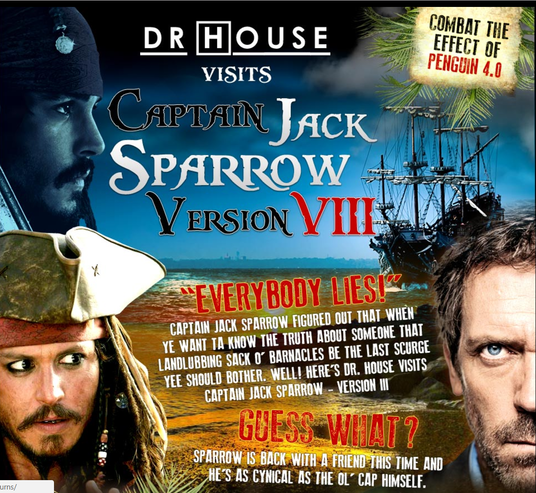 I will Give You The Jack Sparrow  SEO Package: 47 Phases Of Links, Revenge VII, First Page Google