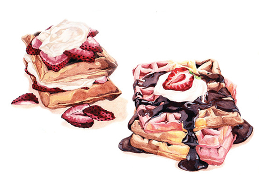 I will Create Stunning Hand Drawn Food Illustrations