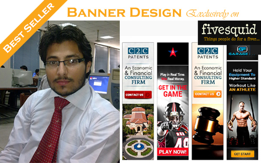 I will design professional web Banners