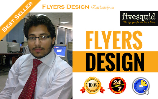I will design an eye catching flyer or poster super fast
