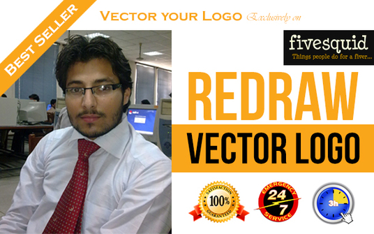 I will Redraw your logo in vector format super fast
