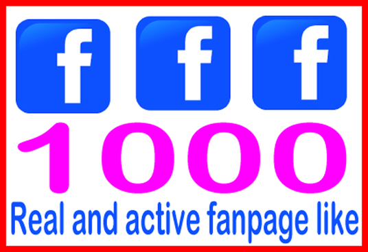 I will Give You 1000 Real & Non Drop Facebook Fan Page Likes To Improve your Social Media
