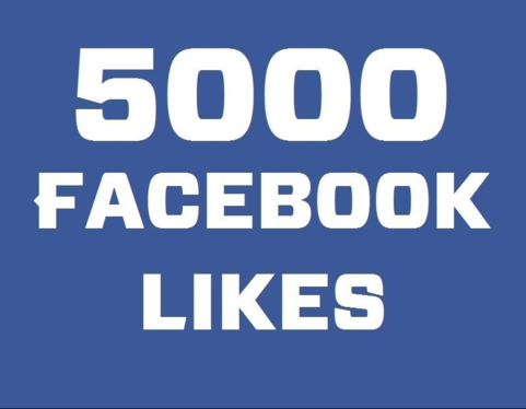 add 5,000 Permanent facebook likes on fanpage