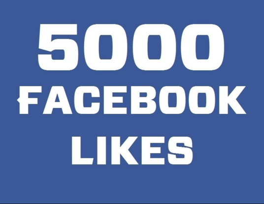 I will add 5,000 Permanent facebook likes on fanpage
