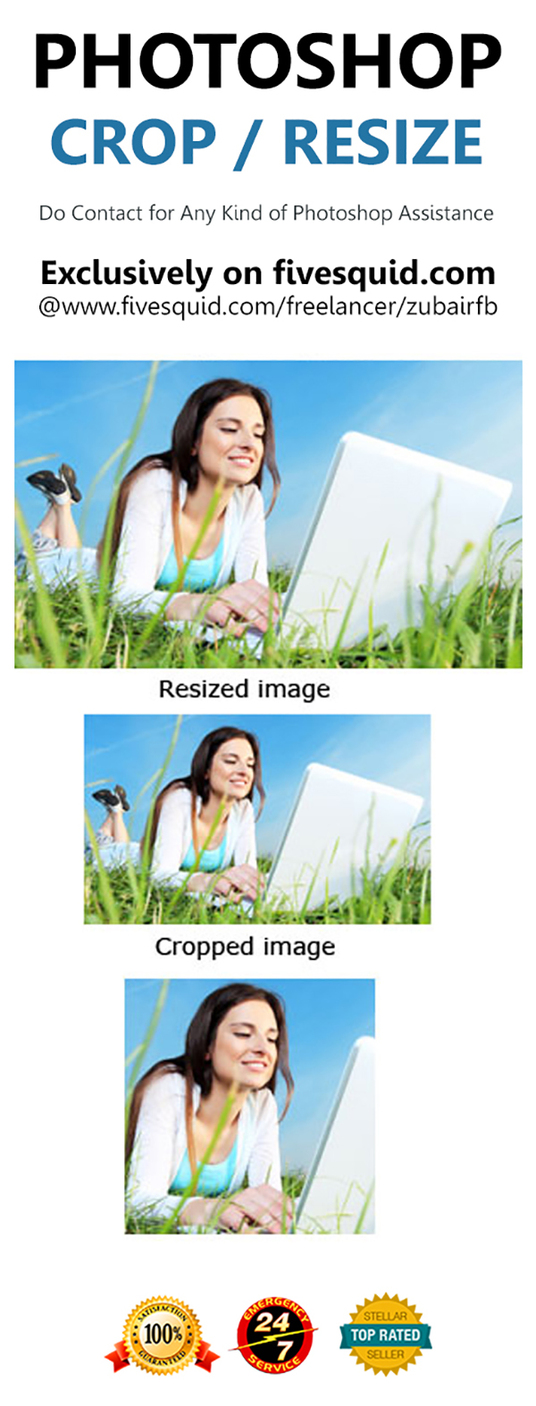 I will Crop, Resize or Edit your images quickly
