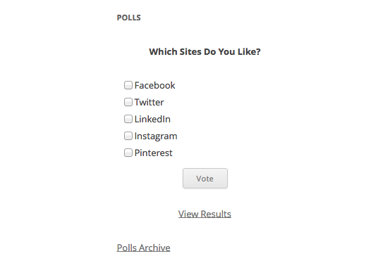 install Online Poll in WordPress