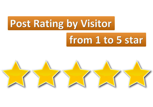 install Post Rating system by Visitor (from 1 to 5 star will be shown in sidebar)