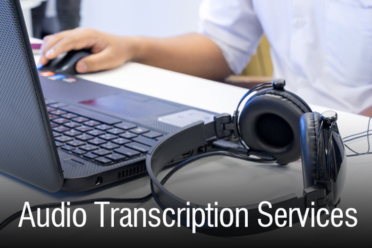 transcribe a picture or a 10-minute audio file into a text file, in Docx format