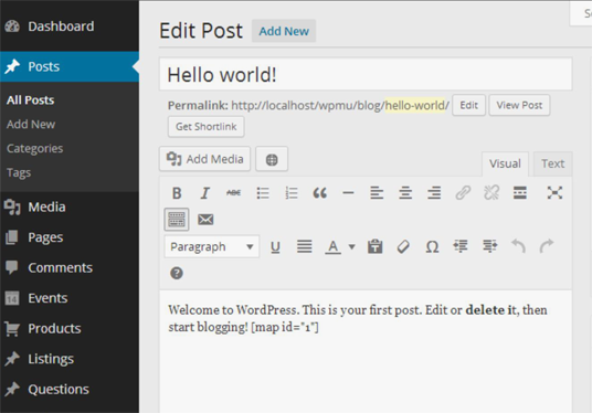 let you install pre-set title and content in WordPress post
