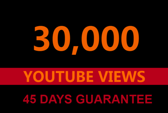 I will provide 30,000 youtube views and 300 likes