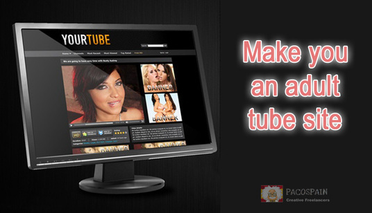I will build you an ADULT TUBE site in any niche