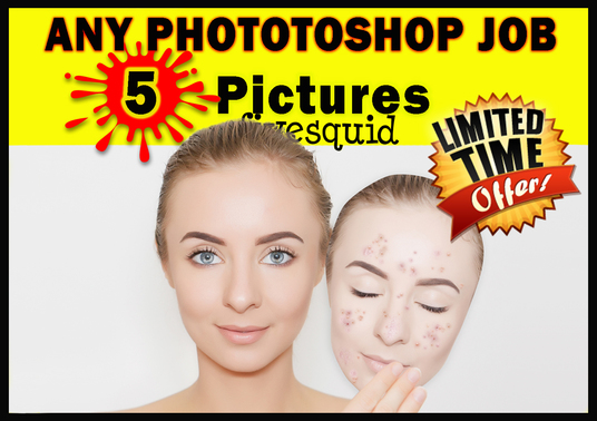 I will do any PHOTOSHOP editing of 5 pictures within 24 hr