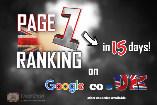 rank you on page 1 on Google.CO.UK in 15 days