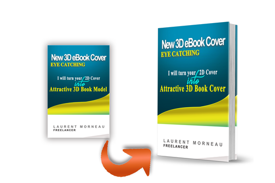 I will turn your simple flat Cover into an Attractive 3D Book Model