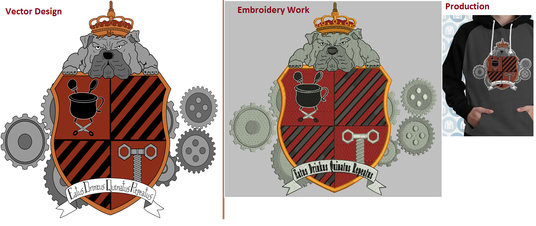 I will digitize, embroider your logo design less then 1 day