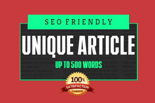 I will Produce A Unique 500 Words Article